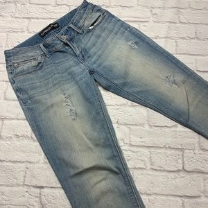Express jeans ankle high skinny Stella 4R blue